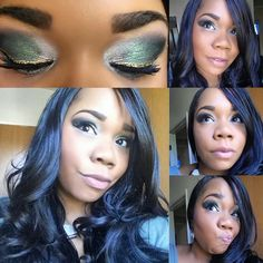Ysista Zeva queen of creative #eye looks.... Get this look right here: www.beautybysj.com  My #fotd #motd'Green with Envy' look  FACE: Liquid foundation in Charmeuse  Perfecting concealer in Cashmere, Mineral blush in Seductive, Beach Front bronzer in Malibu  EYES: Addiction Palette #2 hopeless preppy perplexed, Mineral Eye Pigment in crushed, Precision Pencil in perfect and of course 3D Plus Mascara  LIPS: Lucrative Lipgloss in Luxe www.beautybysj.com #Younique #YOUniqueSistas…