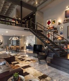 #architecturedose Check out @artsytecture for more! Loft 44 designed by CASADesign Interiores  - Wie findet Ihr das? Markiere deine Freunde!!  - #architecture #archi #wohlstand #fussballer #luxus #designer #interior #architecture #interiors #immobilien #design #hamburg #berlin #münchen #interiordesign #fenster #houses #europa #Österreich #schweiz #deutschland #europe #home #homedecor #homeinspiration #fotografieren - Architecture and Home Decor - Bedroom - Bathroom - Kitchen And Living Room…