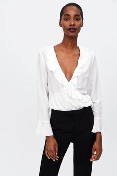 a173ced9390d Image 2 of RUFFLED NECKLINE BODYSUIT from Zara Zara