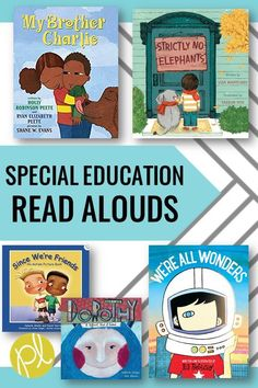 Special Education books for inclusion classrooms. Add these favorite read alouds to your library today. Read more about how I use these at the beginning of the school year at Positively Learning Blog #celebratedifferences #autismawareness