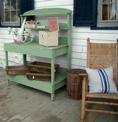 cute potting bench