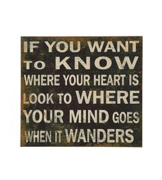 "22"" Square MDF ""If You Want To Know Where Your Heart Is?"" Wall Plaque, Black ( the cottage Brenham tx )"