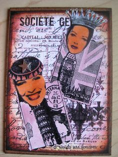 """Stempel-Gewerkel: 7th Annual Blog ATC Swap - """"My home is my castle"""" at Marion`s Blog"""
