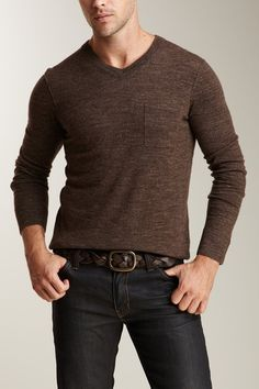 105f6ddde97 Long Sleeve V-Neck Pocket Sweater