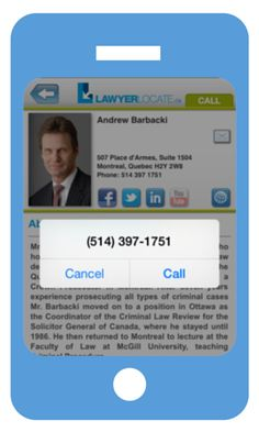 Have you seen the LawyerLocate mobile app? It's a great way to find a reputable Canadian lawyer in a moments time!