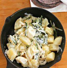 Creamy Poblano Potatoes #creamy #recipe #mexican #potatoes