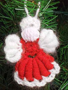 POSTED - Crochet - Angel Ornament - Medium Worsted Weight [4] Yarn & Medium Worsted Weight [4] Brushed Yarn