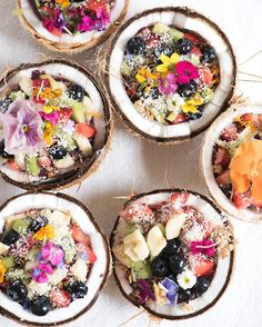 If you love smoothie bowls and chia pudding, try this tropical twist on a breakfast treat: coconut shells for bowls!