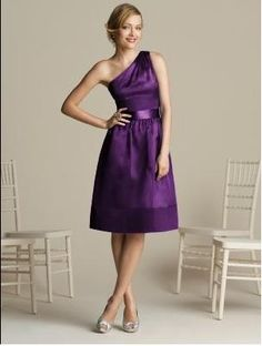 Bridesmaid dresses. #purple and silver wedding colors