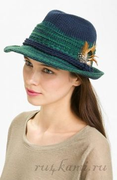 шляпа спицами