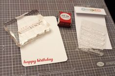 Floral Washi Tape Happy Birthday Card (sketch A): Stamp the Sentiment