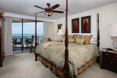 Master suite with beach and city views