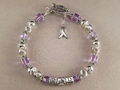 Hodgkin Lymphoma Bracelet Hodgkin Lymphoma by KrisTsCreations, $65.00