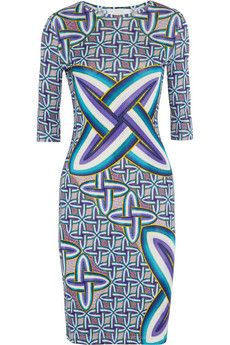 Peter Pilotto Edie printed jersey-crepe dress | NET-A-PORTER