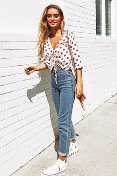 polka dot + denim