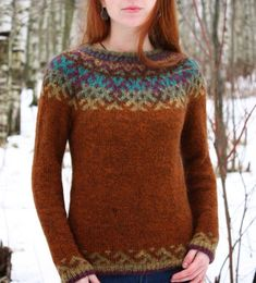 """Items similar to Lopapeysa """"Revontulet"""". on Etsy - Pulli Sitricken Fair Isle Knitting Patterns, Fair Isle Pattern, Casual Sweaters, Sweaters For Women, Fair Isle Sweaters, Women's Sweaters, Punto Fair Isle, Fair Isle Pullover, Icelandic Sweaters"""