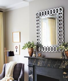 Easy Staging Trick: A mirror not only adds some style to a space, its reflective quality can open up a room, making it brighter and seem less cramped (even if it's tiny).