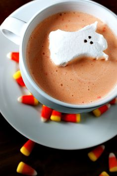Candy Corn Hot Chocolate