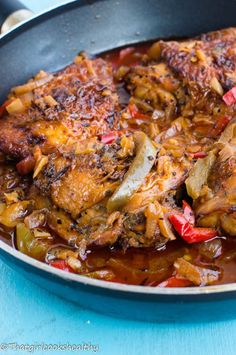 Brown stew chicken4