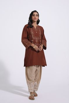 EMBROIDERED SHIRT (E0046/103/317) | ETHNIC