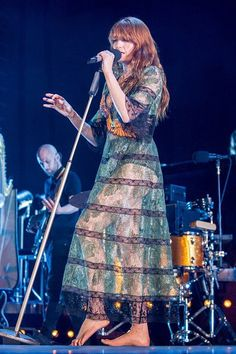 Florence + the Machine performing at Barcelona, Spain #HowBeautifulTour