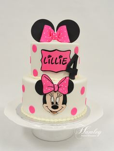 Minnie Mouse Birthday Cake  www.hamleybakeshoppe.com