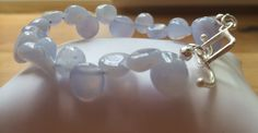 Handmade gemstone bracelet - blue chalcedony  Www.myexquisitethings.co.uk