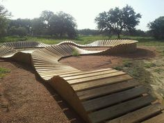 Wooden pump track....backyard????...mmmm