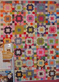 """Pie in the Sky quilt.  Pattern is from """"Simple Graces"""" by Kim Diehl 