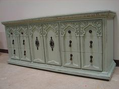 Antique Jade Paint Vintage Broyhill Ornate by BlueSkyLaneDesigner