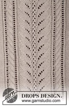 """Darling - Knitted DROPS jumper with lace pattern and cables in """"Cotton Light"""" or """"Belle"""". Size: S - XXXL. - Free pattern by DROPS Design Lace Knitting Patterns, Knitting Stiches, Knitting Charts, Lace Patterns, Stitch Patterns, Free Knitting, Drops Patterns, Crochet Lace Edging, Drops Design"""