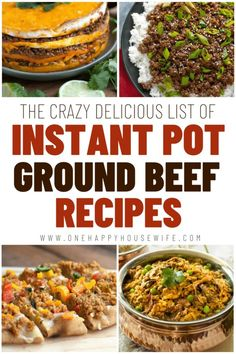 Beef Recipe Low Carb, Beef Recipes, Cooker Recipes, Yummy Recipes, Chicken Recipes, Recipes Using Ground Beef, Potted Beef Recipe, Pressure Cooking Recipes, Instant Pot Dinner Recipes