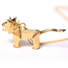 Collar Origami Jewellery Lion