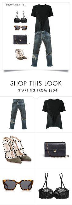"""Sem título #292"" by mcbscap on Polyvore featuring moda, Dolce&Gabbana, Maison Margiela, Valentino, Chanel, Karen Walker e La Perla"