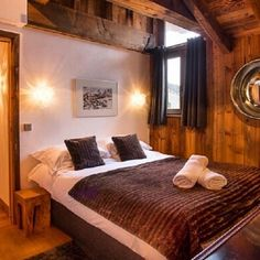 A place to call home... Dreamy bedrooms in stunning chalet properties #Design #Property #InteriorDesign #Interiors #Luxury #Home #RealEstate #Realtor #Bedroom #Furnishing #DreamHome #Ski #Chalet #Skiing
