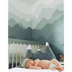 Cute mountain nursery theme