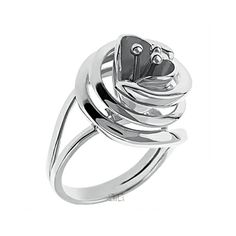 Δαχτυλίδι στριφογυριστό άνθος - Ασημένια δαχτυλίδια