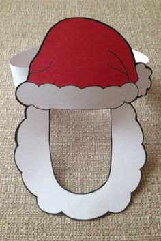Included are a colored mask and an outline of a mask for students to color themselves. Print the mask on construction paper or cardstock, cut it out, then attach it to a sentence strip (or stapled strips of paper) around the child's head. You can have a classroom full of Santa's for Christmas!