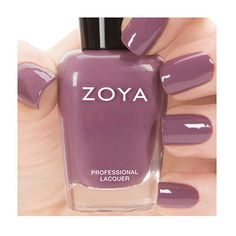 Zoya Nail Polish in Odette can be best described as full-coverage, sultry deep orchid cream. 2014 Naturel Collection.  Finish Cream, Opaque; Color Tone - Cool