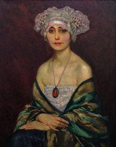 Abel Warshawsky (1883-1962), Portrait of a Woman in a Breton Headdress (1914), oil on canvas, 65 x 81 cm.