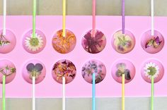 The concept of edible flowers has always delighted me. As a teenager, I was completely obsessed with faeries, so the idea of flower-covered cupcakes or lavender-flavored bubble gum was totally captiva