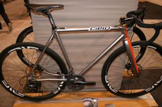 Cielo cross bike (Chris King's frame shop)  - paint inspired by Aston Martin DBR1 - from NAHBS - via VeloNews
