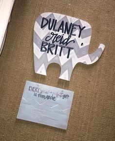 elephant door hanger // chevron elephant // hospital door hanger - fortheglorydesigns on etsy