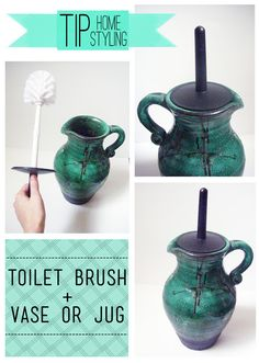 How to disguise the toilet brush....Lemon Jitters: TIP: Home Styling