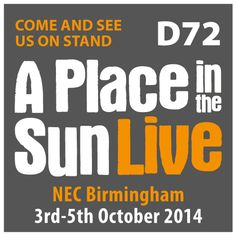 Its now less than four weeks to go until the doors open on Birminghams Live Property Exhibition. Turkish Connextions will be there at  A Place In the Sun Live exhibition at the NEC in Birmingham from the 3rd to the 5th October on stand D72, if you wish to come along to see whats on offer and chat to our  super friendly staff.