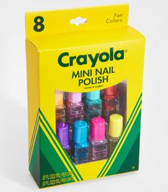 Crayola Mini Nail Polish Set! My love of nails and love of teaching combined! Winning :)
