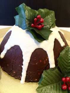 Christmas Rocky Road pudding  vegan, no refined sugars, simple  topped with cashew nut frosting
