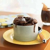 Double Chocolate Souffls with Warm Fudge Sauce | CookingLight.com
