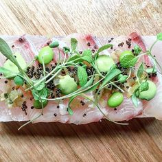 Yukie's snack bar Windsor Dinner: Himalayan salt slab cured kingfish @therubycanvas #thefoodcanvas #mrmiyagi #yukiessnackbar by thefoodcanvas