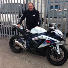 This is James who passed his DAS with us over 10 years ago, and has come to show us his new ride a Suzuki GSX :-)